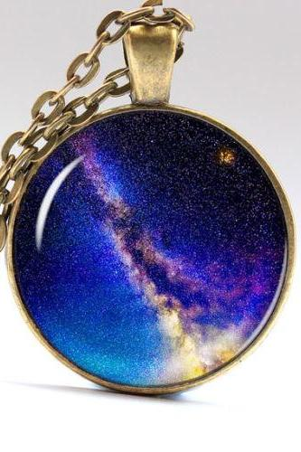 Nebula Necklace Galaxy Pendant Universe Jewelry