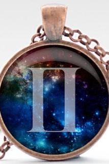 Gemini Nebula Necklace, Zodica Pendant Necklace