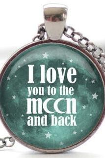 I Love You to the Moon and Back Necklace, Word Jewelry