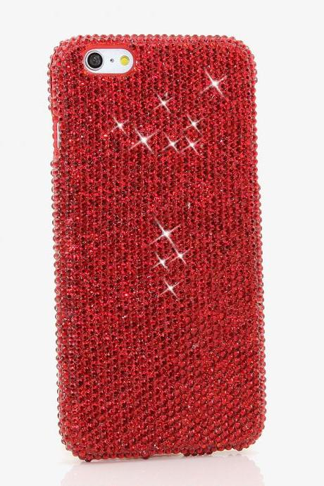 Bling Crystals Phone Case for iPhone 6 / 6s, iPhone 6 / 6s PLUS, iPhone 4, 5, 5S, 5C, Samsung Note 2, Note 3, Note 4, Galaxy S3, S4, S5, S6, S6 Edge, HTC ONE M9 (BRIGHT RED CRYSTALS DESIGN) By LuxAddiction