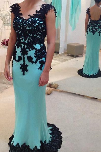 Sheath V-neckline Green Lace Prom Dress,Mermaid Occasion Dress