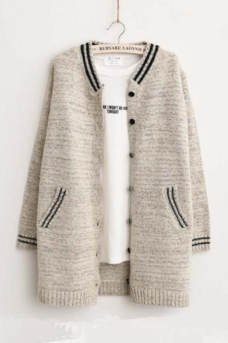 Autumn Stripe Cardigan Sweater