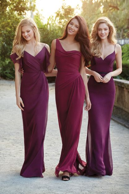 New 2015 Custom Made Long Chiffon Bridesmaid Dress/Long Bridesmaid Dresses