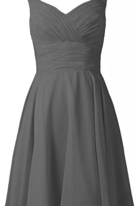 Grey Bridesmaid Dresses With Strapless Neckline Short Gray Bridesmaid Dress Under 100 For Maids Wedding