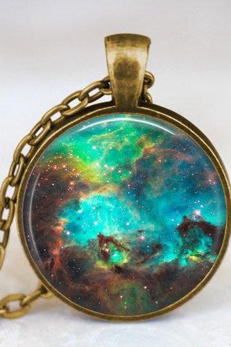 Nebula pendant , Nebula necklace, Nebula jewelry, galaxy space necklace