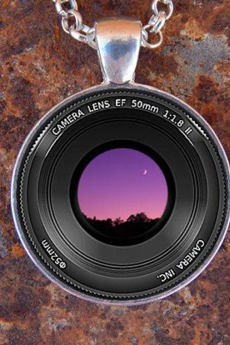 CUSTOM CAMERA PENDANT Camera Lens Pendant Camera Necklace