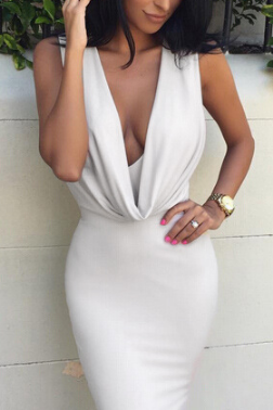 Sexy V-neck sleeveless dress VG10510NM
