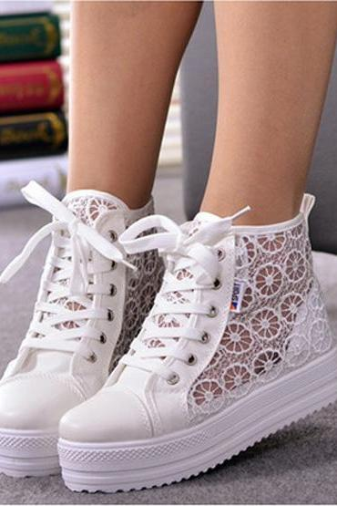 High- Soled Breathable Casual Shoes