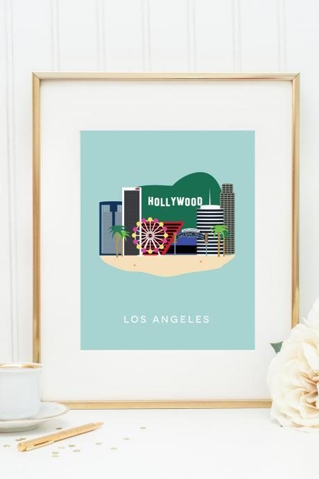 Los Angeles City Print in our West Coast Cities Series Wall art for the home