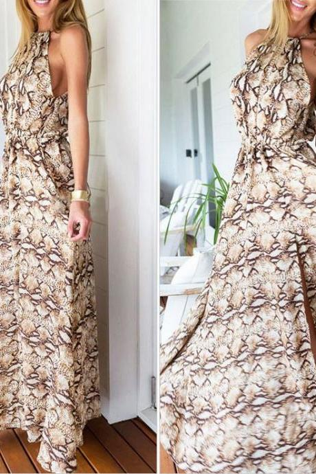 Sexy Printed Long Maxi Dress