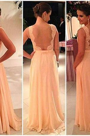 Chiffion prom dress,lace prom dress,long prom dress,Elegant Women dress,Party dress L313