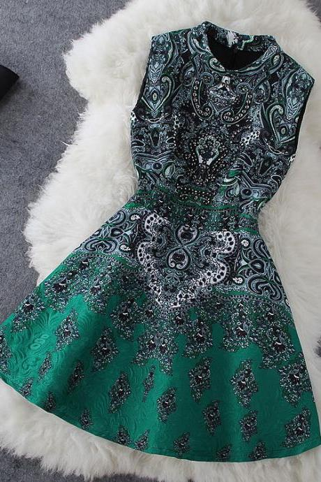Floral Dress In Green