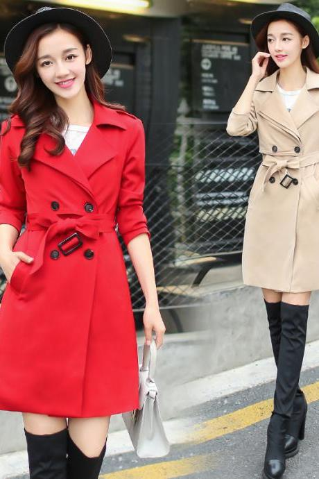 Fashion Double Breasted Trench Coats (2 Colors)