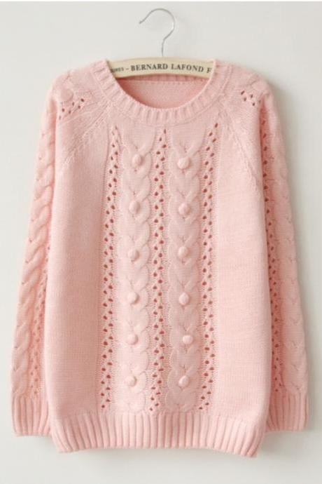 Cabbed Pullover Sweater