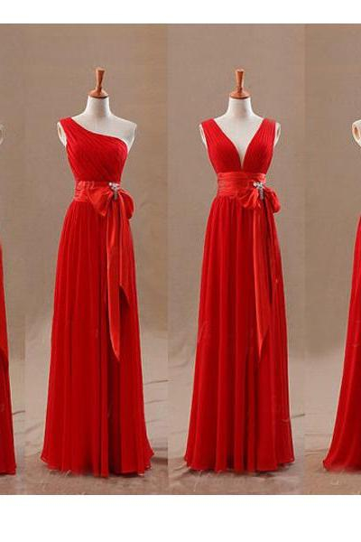 Red Bridesmaid Dress Halter Bridesmaid Dress One Shoulder Bridesmaid Dress Sexy V-neck Bridesmaid Dress Coset Bridesmaid Dress Empire Waist Bridesmaid Dress Pleats Ruching Bridesmaid Dress Waistband Bowknot Bridesmaid Dress A-line Bridesmaid Dress Custom Bridesmaid Dress Long Bridesmaid Dress Evening Gown Prom Dress