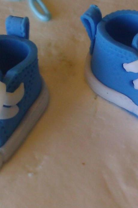 Fondant 'Converse Inspired' Shoe Cake Toppers
