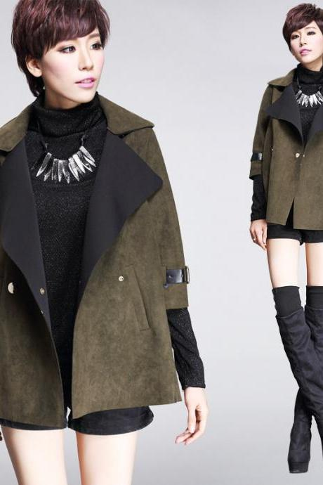 New Fashion Women Autumn Winter Trench Coat Jacket Unique Design Outerwear