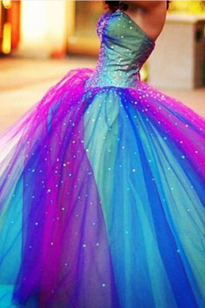 2016 New Arrival Colorful Floor Length Long Prom Dresses, Colorful Formal Dresses,Dress For Weddings, Ball Gown Wedding Dress , Ball Gown Bridal Dress For Weddings,