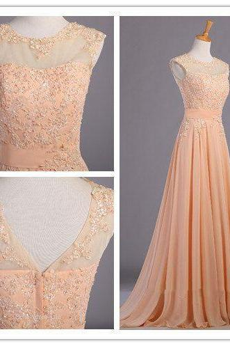 Elegant Handmade Long Prom Dress with Lace Appliques, Long Prom Dress 2016, Simple Prom Dresses 2016