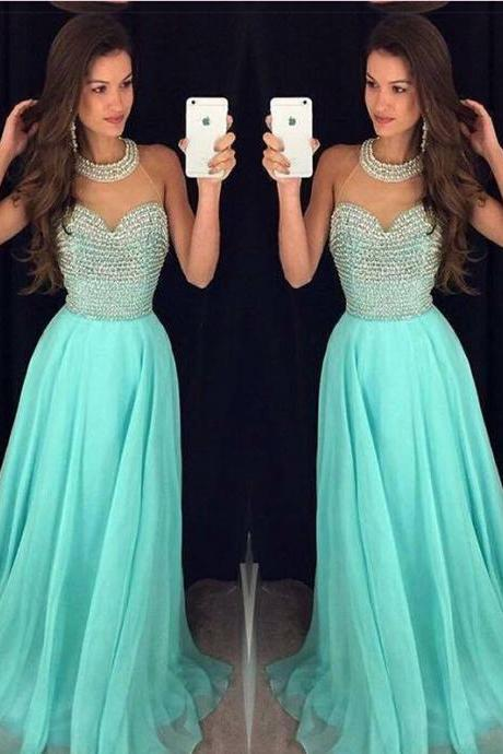 Pd10133 High Quality Prom Dress,A-Line Prom Dress,Halter Prom Dress,SexyBeading Prom Dress, Chiffon Prom Dress