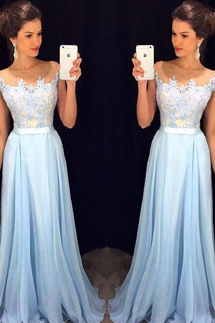 Pd10137 High Quality Prom Dress,chiffon prom dress,A-Line Prom Dress,Charming Prom Dress,Appliques Prom Dress