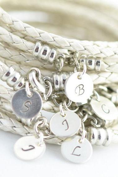 Personalized Bridesmaid Gift, Customized Bridesmaid Gifts, Personalized Bridesmaid Bracelet, initial bracelet ,sterling silver