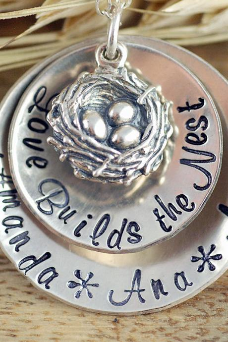 Mothers Necklace - Bird Nest Necklace - Nest Necklace - New Mommy Necklace - Gifts for Wife - Gifts for Mom - Push Present