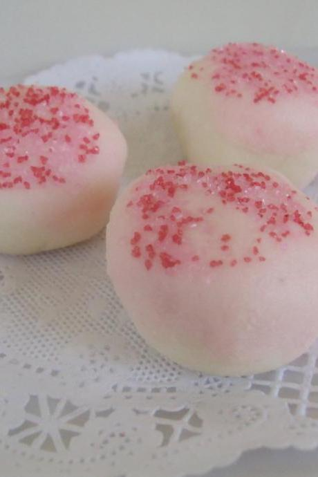 Strawberry Cheesecake Gourmet Bath Truffles Melts with Cocoa Butter And Shea Butter