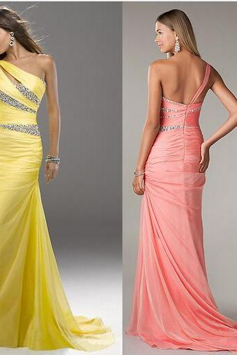 Formal Dresses, One Shoulder Prom Dresses, A-Line Prom Dresses, Sexy Prom Dresses, Beading Prom Dresses, Backless Prom Dresses, Custom Prom Dresses, Evening Dresses, Party Dresses