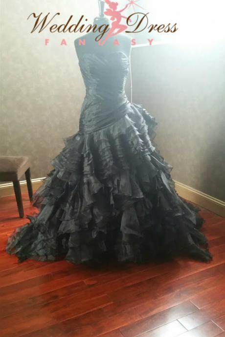 2016 Cheap Elegant Real Image Gothic Wedding Dresses Vestidos de Novia Mermaid Sweetheart Ruffle Lace Up Bridal Gowns Dress