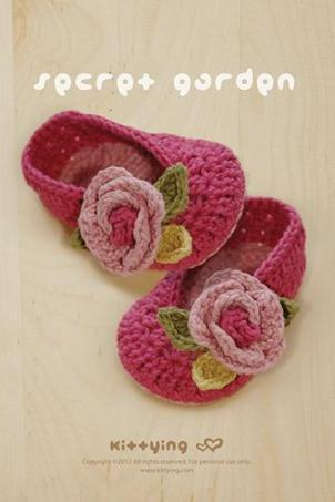 Secret Garden Ballerina Crochet PATTERN, PDF - Chart & Written Pattern by kittying