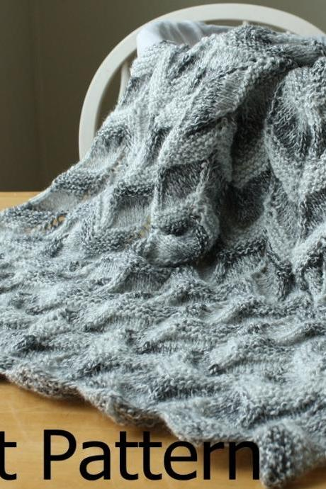 Knit Pattern - Baby Blanket Pattern - easy ripple chevron