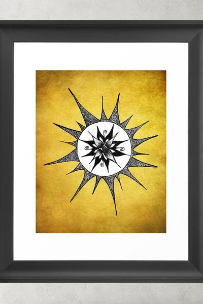 Printable Wall Art Poster DIY - Sun Flower