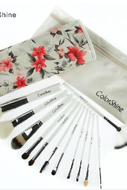 ColorShine High Quality 12 Pcs Makeup Brush Set Professional Makeup Tools