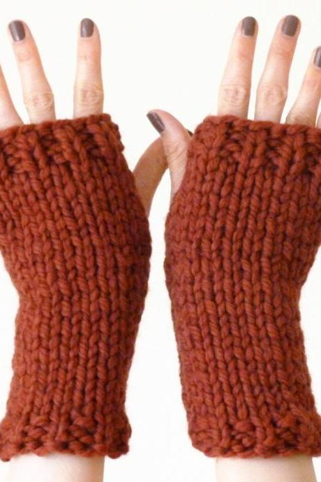Chunky fingerless mitts / gloves