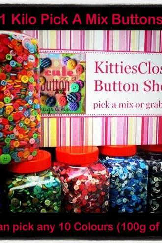 1Kilo (10x 100g) Pick A Mix Buttons