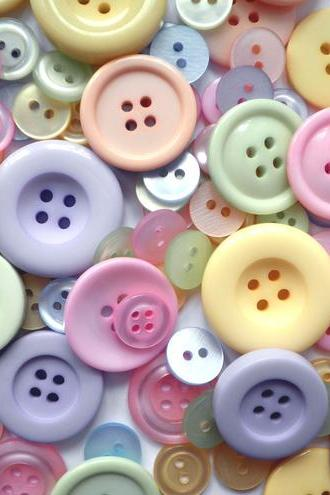 500g Wholesale Bag Dolly Mixture Pastel Buttons
