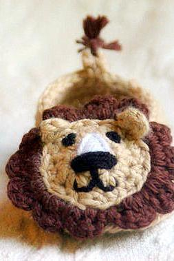 Baby Boy Lion House Slipper Crochet Pattern - PDF File Pattern number 103