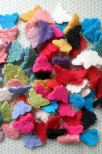 Multi Pack Mini Butterfly Wool Felt Shapes