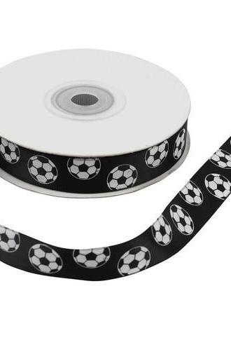 3meters 15mm Football Fun Ribbon Trim