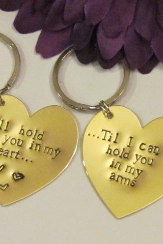 LOVE HEART KEYCHAINS