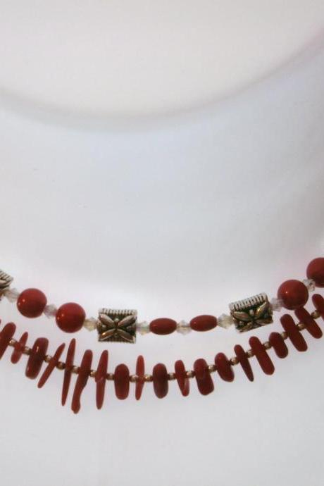 Renewal in Red Necklace