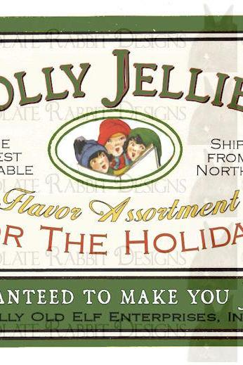 High Resolution Christmas Candy Label Download Vintage Style 300 dpi jpg