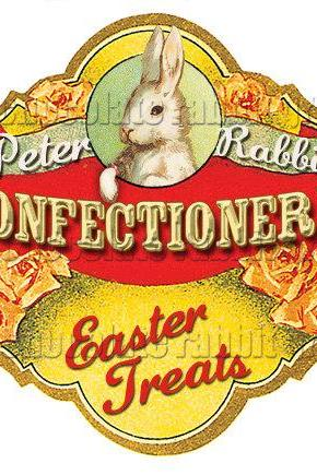 Vintage Easter Victorian Digital Collage Candy Labels Tags Scrapbook Whimsical Altered Art