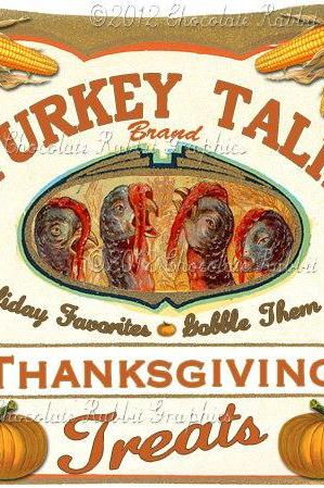 Thanksgiving Vintage Tag Label Printable Digital Download Collage Sheet Graphics Turkey Cards Scrapbook