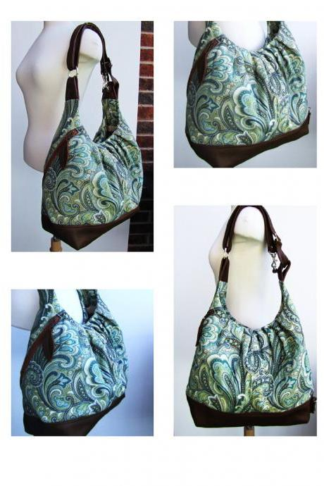 Cross body diaper bag - Paisley