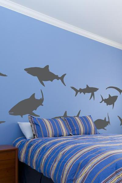 Sharks Vinyl Wall Decal Set