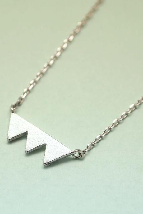Triade silver triangle Necklace
