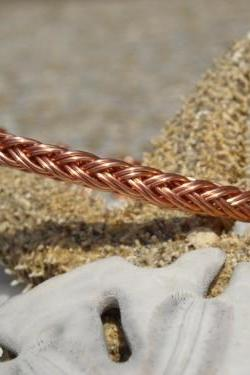 Braided 16-strand Copper Bracelet size 7 1/2