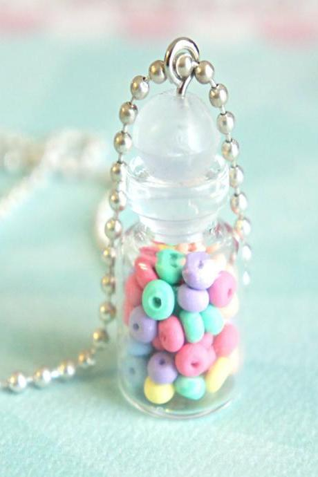 fruit loops in a jar necklace